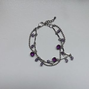 Jewelry - Purple Stone Bracelet